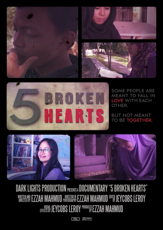 5 Broken Hearts Poster